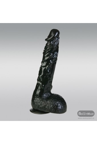 8 inch Black Realistic Non Vibrator With Suction Cup RSNV-018